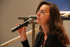 Karen Harley deu palestra na Mostra em Recife